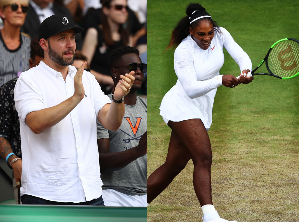 Serena Williams, Wimbledon 2018, Alexis Ohanian